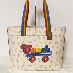 New💃Coach Tote With Rainbow Roller Skate Graphic